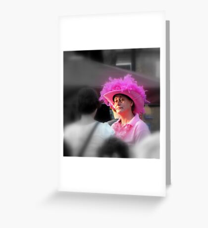 Lady in Pink Greeting Card