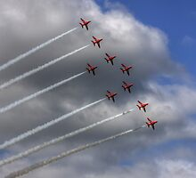 The Red Arrows at Dunsfold by Shane Ransom