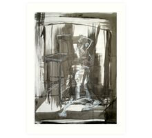 Figure with Chair Art Print