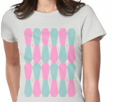 Coffin Plaid Pink Womens Fitted T-Shirt
