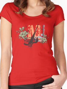 Windsurfing flower Women's Fitted Scoop T-Shirt