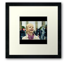 A child´s laughter Framed Print