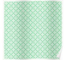 Mint Geometric Pattern Poster