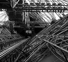 Inside the Eiffel Tower by joewdwd