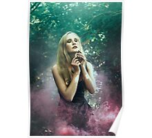Girl in purle smoke - Poster