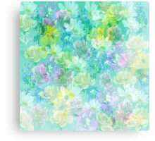 Enchanted Spring Floral Abstract Canvas Print