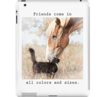 Friends come in all colors and sizes iPad Case/Skin