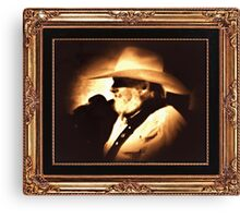 """Country Legend ... 'The Southern Boy""' in a matted and framed presentation for prints and products Canvas Print"