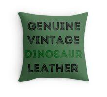 Dinosaur Leather Throw Pillow