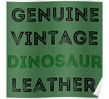 Dinosaur Leather Poster