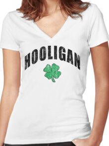 "Irish ""Hooligan"" Women's Fitted V-Neck T-Shirt"
