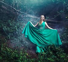 Forest queen mystic woman by Liancary