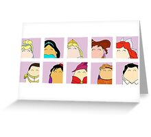 Prince & Princess Tiggle Profile Greeting Card