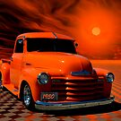 "1950 Chevrolet Pickup Truck ""Orange Juice"" by TeeMack"