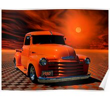 "1950 Chevrolet Pickup Truck ""Orange Juice"" Poster"