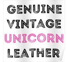 Unicorn Leather Poster
