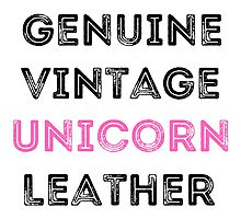 Unicorn Leather Photographic Print