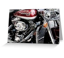 red harley too Greeting Card