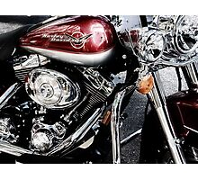 red harley too Photographic Print