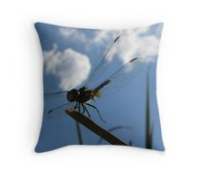 Dragonfly High  Throw Pillow