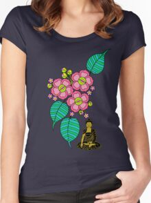Buddha Under the Bodhi Tree Women's Fitted Scoop T-Shirt