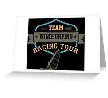 Team Windsurfing Racing Tour Greeting Card