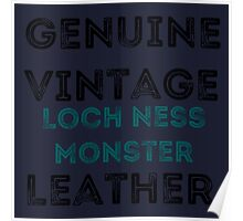 Loch Ness Leather Poster