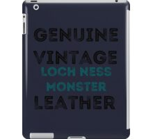 Loch Ness Leather iPad Case/Skin