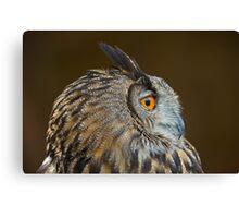 Eagle Owl Profile Canvas Print