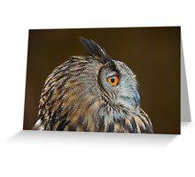 Eagle Owl Profile Greeting Card