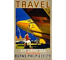 Vintage Travel Poster Restored Photographic Print