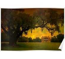 Drayton Hall Plantation in Charleston SC Poster