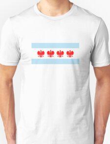 Polish Chicago Flag Unisex T-Shirt
