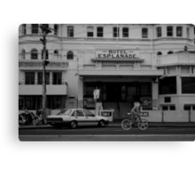 Andi Di Donato passing the Esplanade Hotel Canvas Print