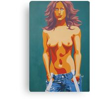 Topless Lady Canvas Print