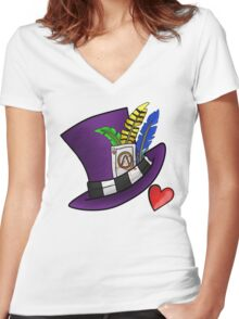 Borderlands - Mad Moxxi Hat Women's Fitted V-Neck T-Shirt