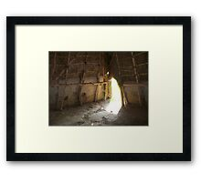 Inside the Home of the Natchez Indians Framed Print