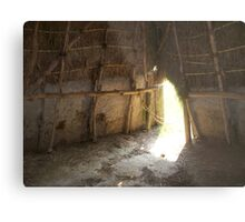 Inside the Home of the Natchez Indians Metal Print