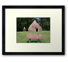Natchez Indians Home and Granary Framed Print