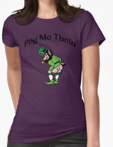 "Irish ""Pog Mo Thoin"" Kiss My A...  Womens Fitted T-Shirt"