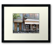 Mark Twain Guest House and Under the Hill Saloon Framed Print