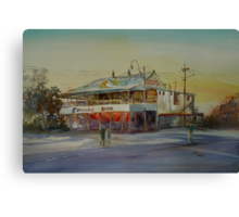 Winton Pub Australian Outback Watercolour Canvas Print
