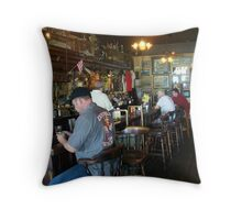 "Inside ""Under the Hill"" Saloon Throw Pillow"