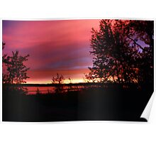 Red sky at Night - Sailors Delight Poster