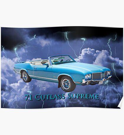 Oldsmobile Cutlass Supreme Muscle Car Poster