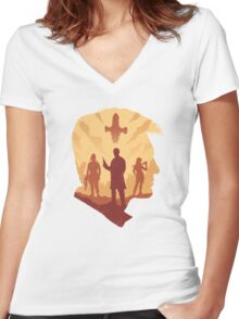 Smuggler Squad Women's Fitted V-Neck T-Shirt