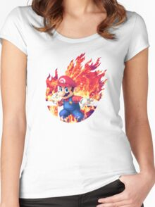 Smash Hype - Mario Women's Fitted Scoop T-Shirt