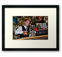 Happy Hour at the Last Chance Saloon Framed Print