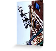 logan square movie theater, chicago Greeting Card