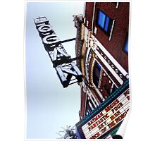 logan square movie theater, chicago Poster